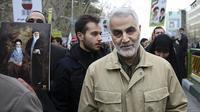 Qasem Soleimani, Jenderal Militer Iran yang tewas dalam serangan AS. (AP)