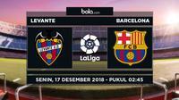 Jadwal La Liga 2018-2019 pekan ke-16, Levante vs Barcelona. (Bola.com/Dody Iryawan)