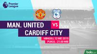 Premier League - Manchester United Vs Cardiff City (Bola.com/Adreanus Titus)
