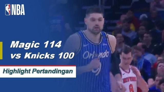 Nikola Vucevic mendominasi cat untuk Magic dalam kemenangan 114-100 atas Knicks. Vucevic selesai dengan 29 poin dan 13 rebound untuk Orlando dalam kemenangan.