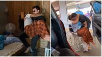 Pria ini rela tunda pekerjaan kantor dan meeting demi antar sahabat ke rumah sakit. (Sumber: Facebook/Hafiz Mahamad)