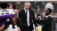 Massimiliano Allegri berhasil membawa Juventus kembali merengkuh trofi Serie A. (AFP/Marco Bertorello)
