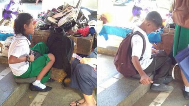 Haru Kisah Kakak Beradik Jadi Tukang Sol Sepulang Sekolah Untuk