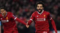 Penyerang Liverpool, Mohamed Salah, mengaku masih berhubungan baik dengan seluruh pemain dan suporter AS Roma. (AFP/Anthony Devlin)