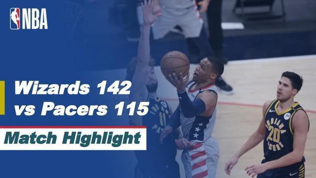 Berita Video Washington Wizards Kunci Tiket Playoffs Usai Kalahkan Indiana Pacers 142-115.