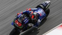 Jorge Lorenzo saat menjalani tugas sebagai pembalap penguji Yamaha pada sesi tes MotoGP di Sirkuit Sepang, Malaysia, Februari 2020. (Mohd RASFAN / AFP)