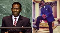 Presiden Guinea, Teodoro Obiang Nguema (kiri) dan wakilnya, Teodorin Obiang Nguema. (Peachessence.com)