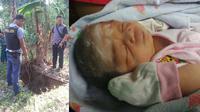 Bayi nahas yang dibuang di spetic tank rumah kosong. Foto:(Panji Prayitno/Liputan6.com)