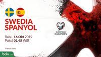 Kualifikasi Piala Eropa 2020 - Swedia Vs Spanyol (Bola.com/Adreanus Titus)