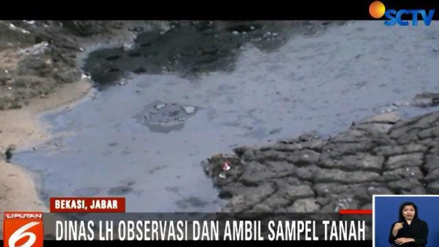 Kepolisian dan Dinas Lingkungan Hidup dan Kehutanan Kabupaten Bekasi telah mengobservasi lokasi pembuangan limbah ilegal di Desa Segara Makmur, Bekasi, Jawa Barat.