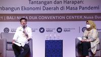 Menteri Pertanian (Mentan) Syahrul Yasin Limpo hadiri Rapat Kerja Nasional XIII APKASI, di Nusa Dua Badung Bali (Liputan6.com / Dewi Divianta)