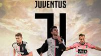 Juventus - Matthijs de Ligt, Paulo Dybala, Arthur Melo (Bola.com/Adreanus Titus)