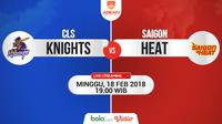 CLS Knights Vs Saigon Heat (Bola.com/Adreanus Titus)