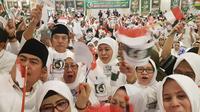 Jaringan Kiai Santri Nasional (JKSN), Gubernur Jawa Timur terpilih, Khofifah Indarparawansa  bersama 800 Warga Negara Indonesia (WNI) yang ada di Arab Saudi berkumpul mendeklarasikan dukungan kepada pasangan calon presiden dan wakil presiden nomor urut 0