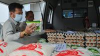 Mentan Syahrul saat menggelar pasar murah di TTIC Pasar Minggu, Jakarta, Kamis(19/03/20).