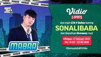 Main bareng GTA V bersama Sonalibaba, Minggu (17/1/2021) pukul 19.00 WIB dapat disaksikan melaui platform Vidio, laman Bola.com, dan Bola.net. (Dok. Vidio)