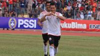 Ismed Sofyan mencetak gol dalam pertandingan leg kedua 32 besar Piala Indonesia 2018 menghadapi 757 Kepri Jaya di Stadion Citra Mas, Batam, Kamis (31/1/2019). (Media Persija)