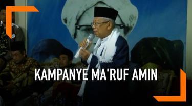 Di Bekasi, Ma'ruf Amin melanjutkan kampanyenya dengan mengunjungi pondok pesantren Al-Baqiyatussholihat. Ia berpesan kepada masyarakat agar mengirimkan anaknya ke pondok pesantren.