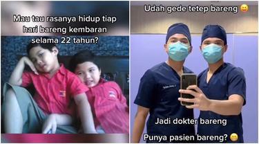 Selalu Kompak Sejak Kecil, Ini Kisah Saudara Kembar yang Kini Jadi Dokter Bareng