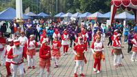 senam massal Olahraga Hidup Baru (Orhiba) di Lapangan Kementerian Pemuda dan Olahraga (Kemenpora). (Istimewa)