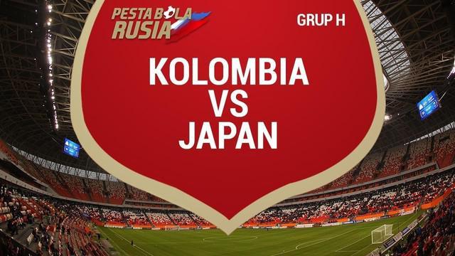 Timnas Jepang menghadapi Kolombia yang bermain sepuluh orang pada duel Grup H di Stadion Mordovia Arena, Selasa (19/6/2018), Jepang menang 2-1.