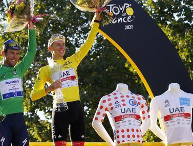Foto: Pertahankan Gelar di Tour de France 2021, Tadej Pogacar Dapat Julukan 'Si Kanibal Baru'