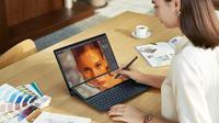 Tampilan ZenBook Duo 14 (UX842) yang baru diluncurkan Asus. (Foto: Asus Indonesia)