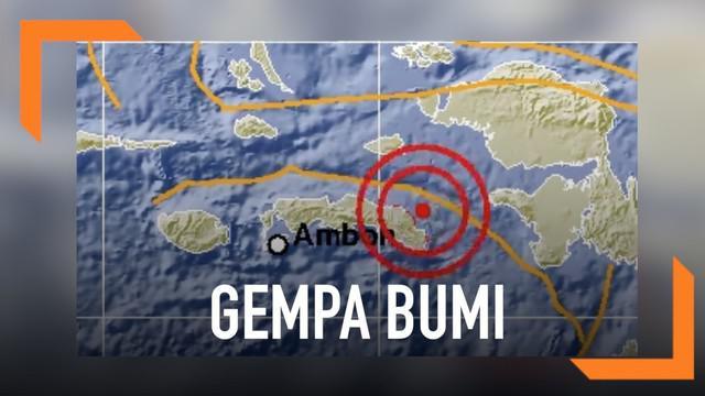 Gempa bumi magnitudo 5,7 mengguncang wilayah Seram bagian Timur. Gempa ini tidak berpotensi tsunami.