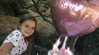 Harper Beckham pun miliki kue ulang tahun dengan gambar unicorn tahun ini! (instagram/victoriabeckham)