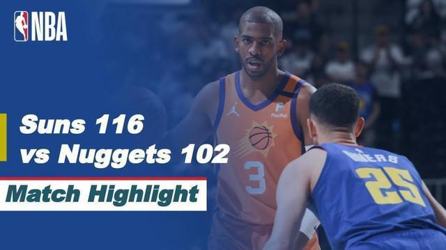 Berita video highlights kemenangan Phoenix Suns atas Denver Nuggets 116-102 pada game 3 semifinal wilayah barat NBA Playoffs 2021, Sabtu (12/6/2021) pagi hari WIB.