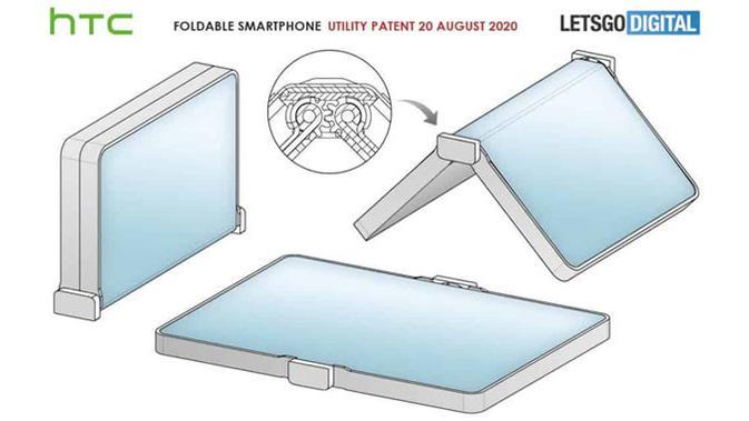 Render smartphone layar lipat HTC. (Doc: LetsGoDigital)