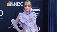 Taylor Swift di karpet merah Billboard Music Awards 2019, Las Vegas, Nevada, Amerika, 1 Mei 2019. (BRIDGET BENNETT / AFP)