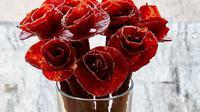 Beri kesan romantis dan kenyang dengan bunga daging sapi saat valentine tiba.