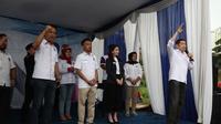Ketua Umum Partai Perindo Hary Tanoesoedibjo saat berada di Bekasi. (Istimewa)
