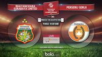 Bhayangkara Surabaya United Vs Perseru Serui (Bola.com/Adreanus Titus)
