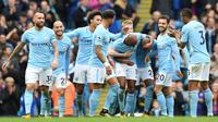 5. Manchester City - Pendapatan 527,7 juta euro (Rp8,6 triliun). (AFP/Paul Ellis)