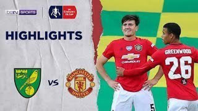Berita Video Highlights Piala FA, Gol Harry Maguire Bawa Manchester United Melaju ke Semifinal Setelah Kalahkan Norwich City 2-1
