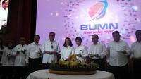 Menteri Rini mengakui blusukan memang bukan cara yang biasa dilakukan bos-bos BUMN selama ini. (Liputan6.com/Ilyas Istianur P)