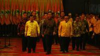 Presiden Jokowi di pembukaan Munaslub Golkar di Bali Nusa Dua Convention Center (BNDCC), Kabupaten Badung, Bali, Sabtu (14/5/2016). (Liputan6.com/Johan Tallo)