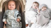 Potret gemas anak seleb yang rayakan Lebaran pertama kali di Tahun 2020. (sumber: Instagram/kianotigerwong dan Instagram/syahnazs).