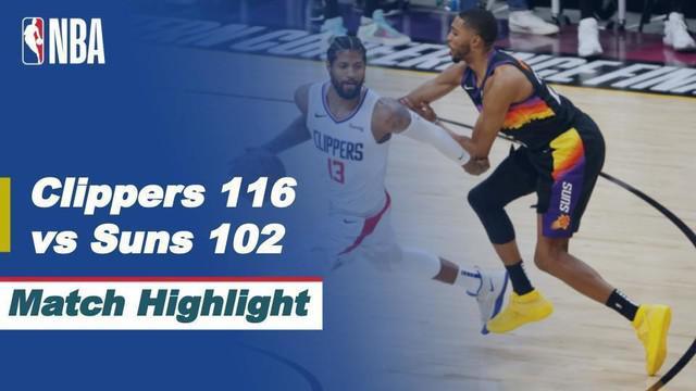 Berita Video, Highlights Final Wilayah Barat NBA 2021 Antara Phoenix Suns Vs LA Clippers, pada Selasa (29/6/2021)