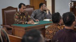 Kuasa hukum penggugat Harimau Jokowi, Saiful Huda mengikuti sidang lanjutan mengenai Akta dan SK Pendirian Partai Gerindra dan SK penunjukan para pengurus BPN Prabowo-Sandiaga Uno di PN Jakarta Selatan, Selasa (19/3). Liputan6.com/Faizal Fanani)