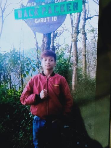 Muhammad Gibran Arrasyid, 14 tahun, pendaki remaja asal Kampung Citangtu, Desa Citangtu, Kecamatan Pangatikan, Garut, Jawa Barat hilang, dalam pendakian di Gunung Guntur, kemarin.