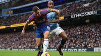 Manchester City menelan kekalahan 2-3 dari Crystal Palace pada laga pekan ke-18 Premier League, di Stadion Etihad, Sabtu (22/12/2018) malam WIB. (AFP/Oli Scarff)