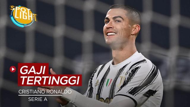 Berita video spotlight kali ini membahas deretan pemain dengan gaji tertinggi di Serie A salah satunya Cristiano Ronaldo.