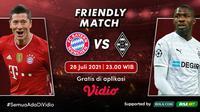 Laga uji coba antara Bayern Munchen vs Borussia Monchengladbach akan berlangsung malam ini, Rabu (28/7/2021) WIB di Allianz Arena, Jerman. (Sumber: Dok. vidio.com)