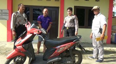 Aksi PNS Palembang Mencuri Sepeda Motor di Rumah Sakit