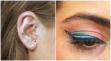 6 Tren Makeup Ini Unik Banget, Mulai dari Eyeliner Sampai Desain Cat Kuku