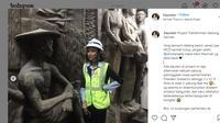 Penemuan relief dan patung bersejarah di Gedung Sarinah, Jakarta (dok: akun Instagram @liayuslan)