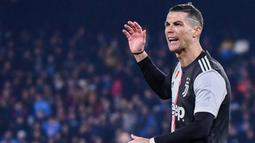 2. Cristiano Ronaldo (Juventus) - 19 Gol (7 Penalti). (AFP/ Alberto Pizzoli)
